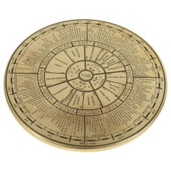 Russian Engraved Brass Perpetual Calendar Made in the 1950s