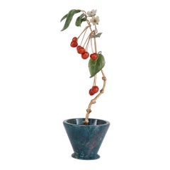 Russian Fabergé Style Hardstone Flower Model