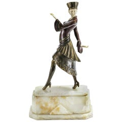 """Russian Footsteps"" Rare Chiparus Art Deco Bronze Sculpture, circa 1920, France"