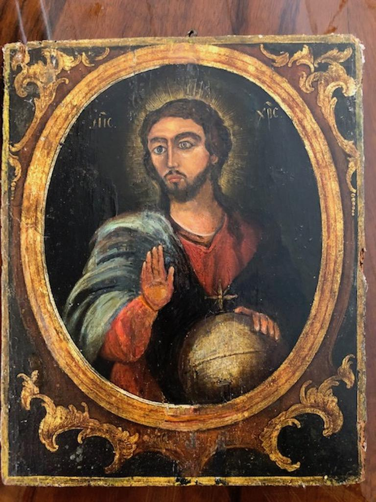Russian Icon of Christ Pantocrator For Sale 3