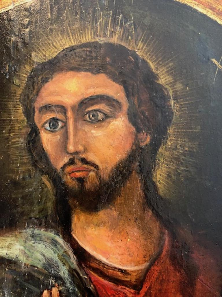 Russian Icon of Christ Pantocrator For Sale 4