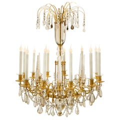 Russian Imperial 19th Century Neoclassical Style Rock Crystal Chandelier