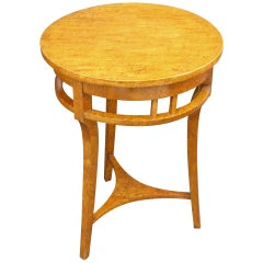 Russian Empire Occasional Table or Guéridon of Karelian Spalted Birch