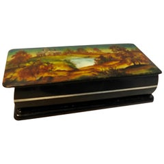 Russian Lacquer Box Hand Painted