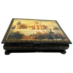 Russian Lacquer Box with the Annunciation Cathedral