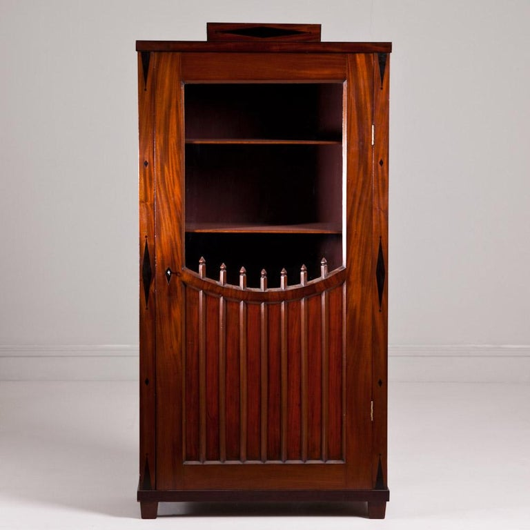 Early 19th Century Russian Mahogany Bookcase with Glazed Door, 1820 For Sale