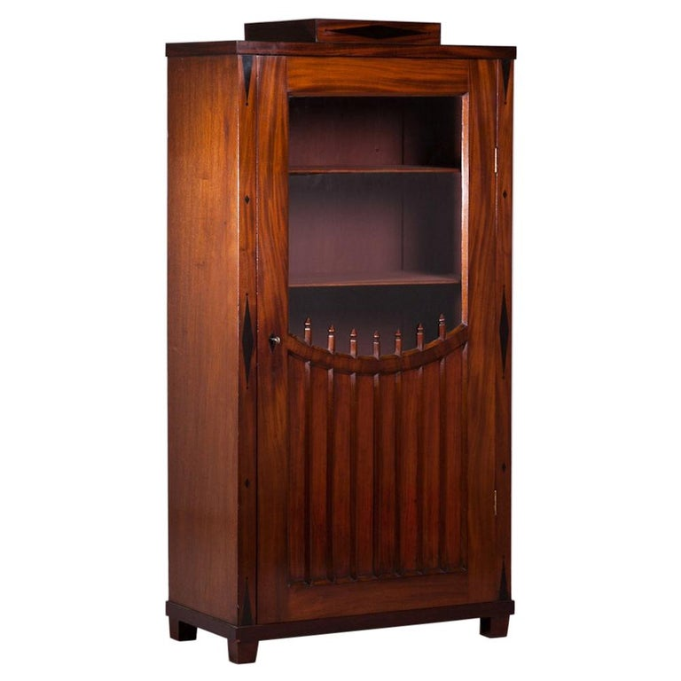 Russian Mahogany Bookcase with Glazed Door, 1820 For Sale