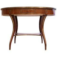 Russian Neoclassic Mahogany Center Table