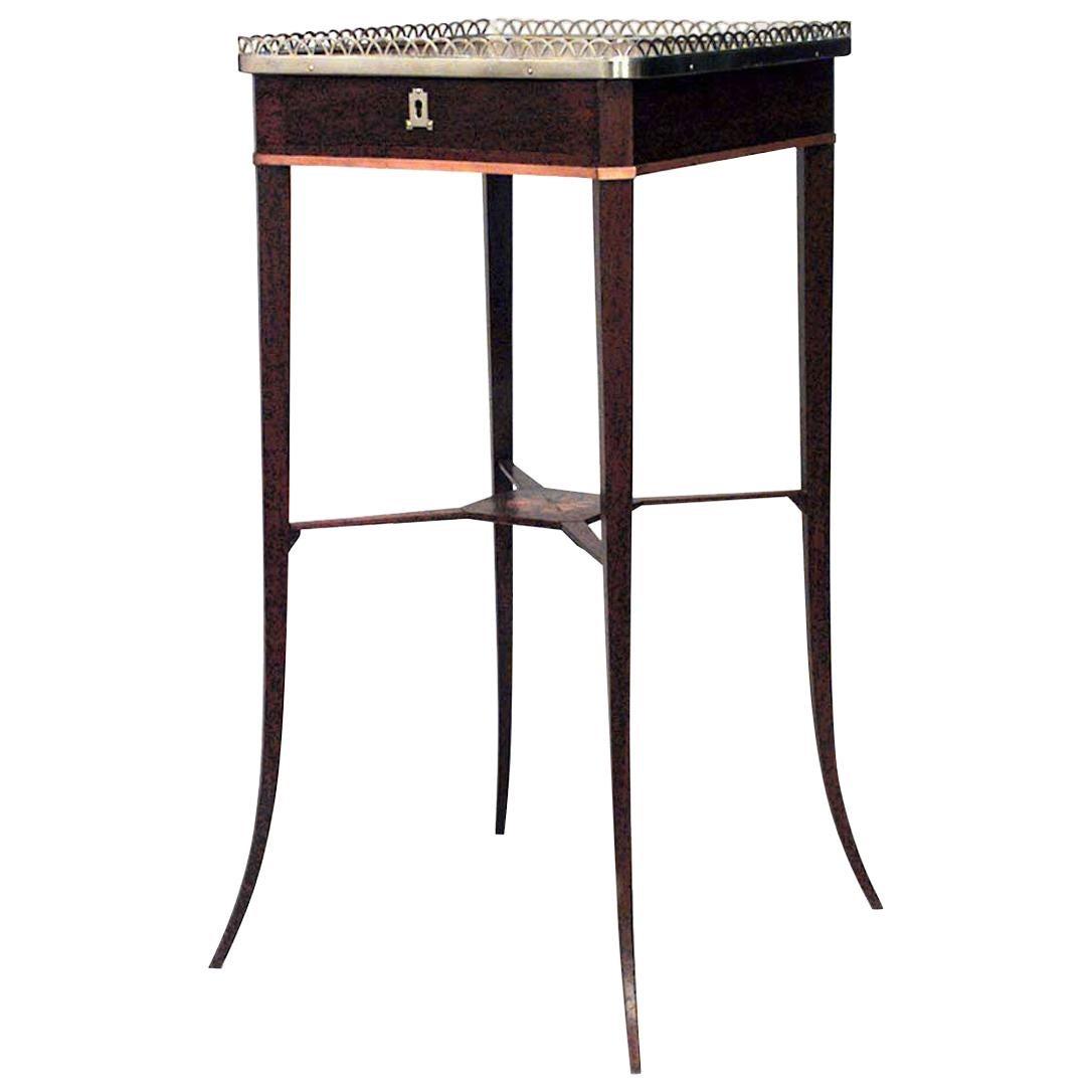 Russian Neoclassic Mahogany Side Table