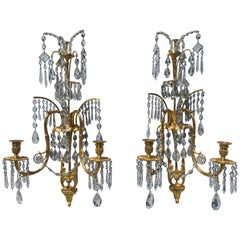 Russian Neoclassical Gilt Bronze Wall Sconces