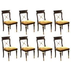 Russian Neoclassical Revival Style Dining Chairs