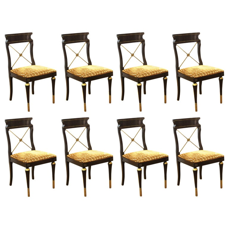 Russian Neoclassical Revival Style Dining Chairs For Sale