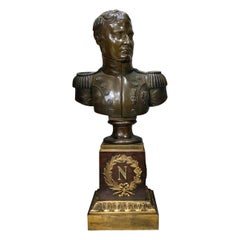 Russian Patinated Bronze Bust of Napoleon