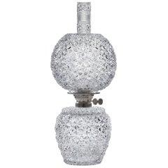 Russian Pattern Cut-Glass Oil Lamp by Hawkes