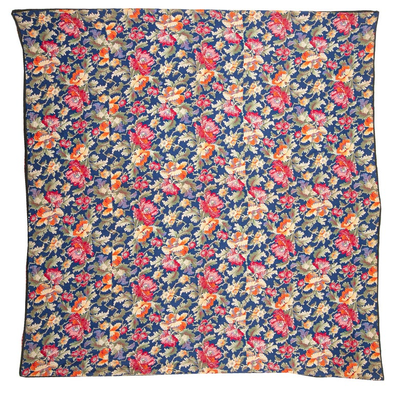 These type of Russian prints that are also called 'trade cloth' since they were made for Central Asian markets.
