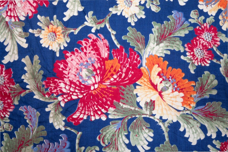 Woven Russian Printed Cotton Fabric Panel, Mid-20th Century or Earlier For Sale