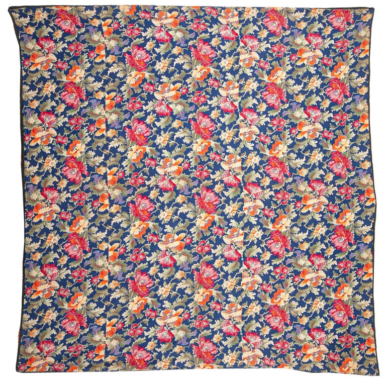Russian Printed Cotton Fabric Panel, Mid-20th Century or Earlier For Sale