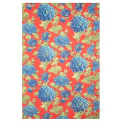 Russian Roller Printed Cotton Fabric Panel, Mid-20th Century or Earlier