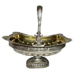 Russian Silver Basket, St. Petersburg, 1830