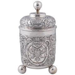 Russian Silver Beaker and Cover, Moscow, 1759