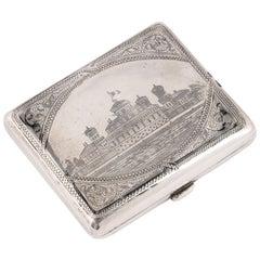 Russian Silver Nielloed Coin Purse Moscow, circa 1900
