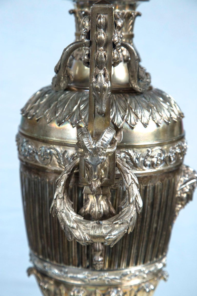 Probably Russian Silver Plated Bronze Urn For Sale 1