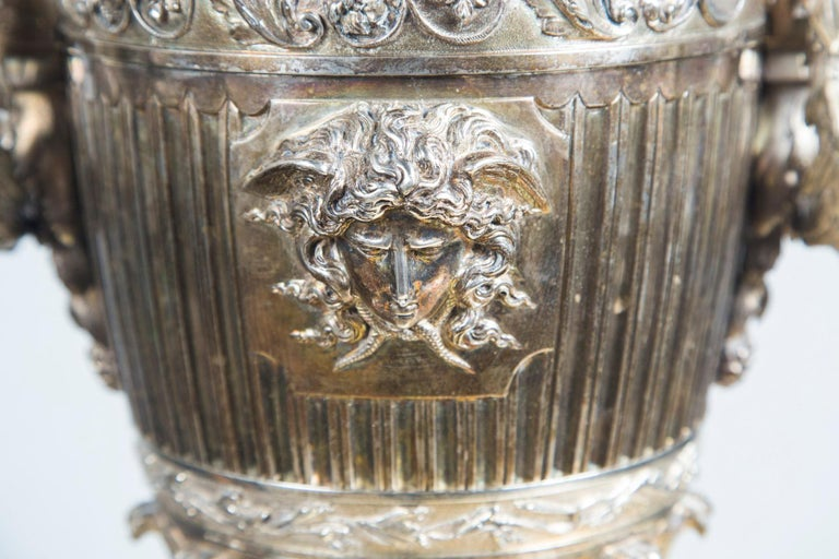 Probably Russian Silver Plated Bronze Urn For Sale 2