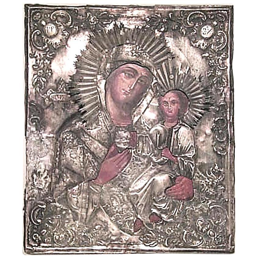 Russian Silver Religious Icon '19th Century'