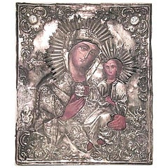 Russian Silver Religious Icon '19th Century'