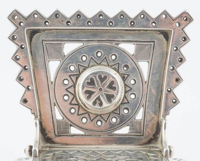 Russian Revival Russian Silver Salt Throne by Sazikov, circa 1880 For Sale