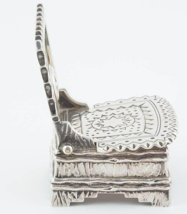Women's or Men's Russian Silver Salt Throne by Sazikov, circa 1880 For Sale