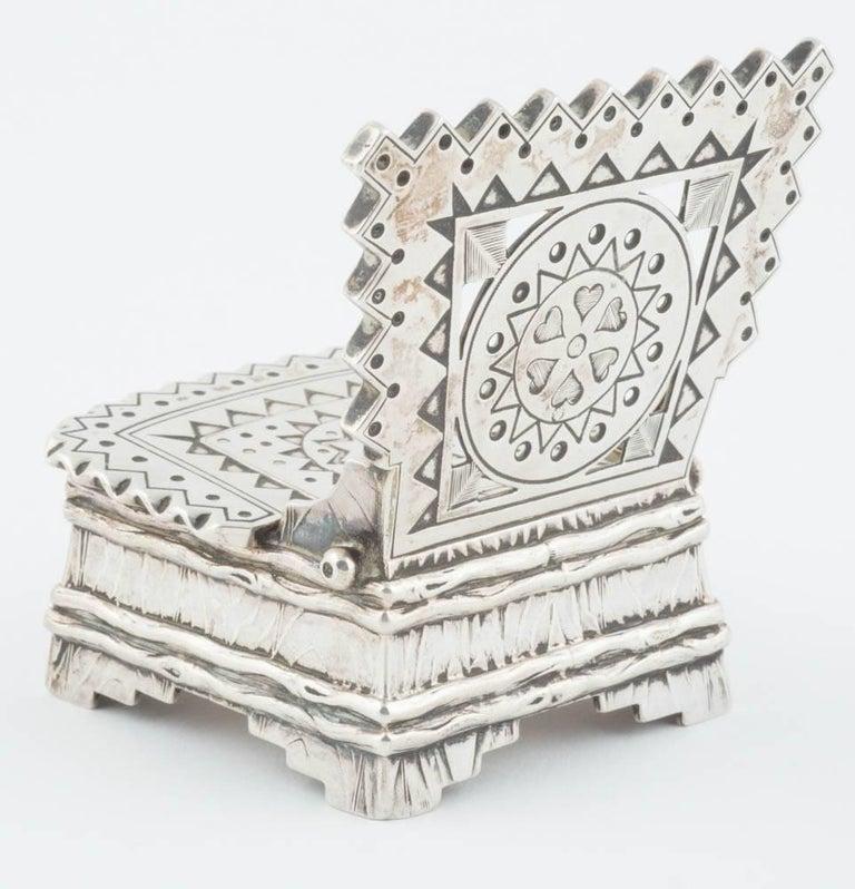Russian Silver Salt Throne by Sazikov, circa 1880 For Sale 1