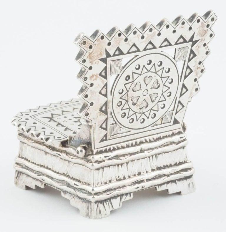 Russian Silver Salt Throne by Sazikov, circa 1880 For Sale 4