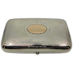 Russian Silver with Gold Medallion Cigarette Case, circa 1900