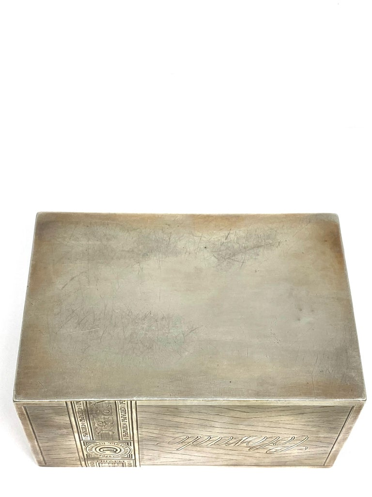 Russian Sterling Silver Tabaco Box  For Sale 3