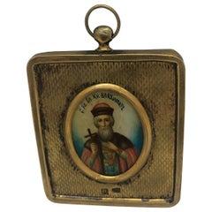 Russian Vermeil Icon