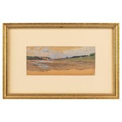 Russian Watercolor of the River Volga by Nikolai Nikolaevich Gritsenko