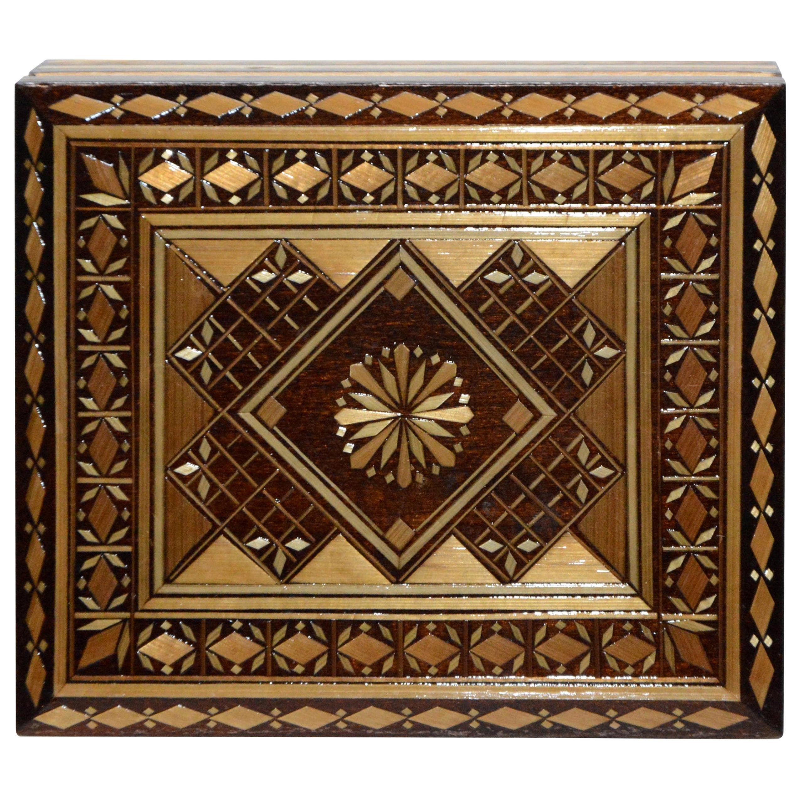 Russian Wooden Inlay Decorative Box