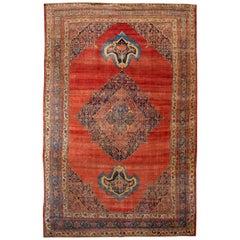 Rust Antique Bidjar Wool Rug