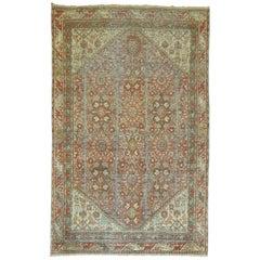 Rust Antique Persian Mahal Carpet