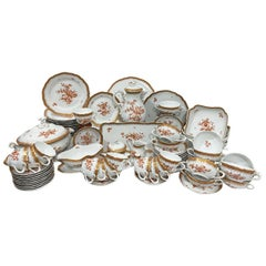 """Rust Floral with Gold Trim """"Wurzburg Pattern"""" Service by C.M. Hutschenreuther"""