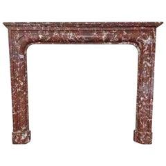 Rust Marble Mantel, circa 1860