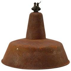 Rusted Metal Vintage Industrial Pendant Light