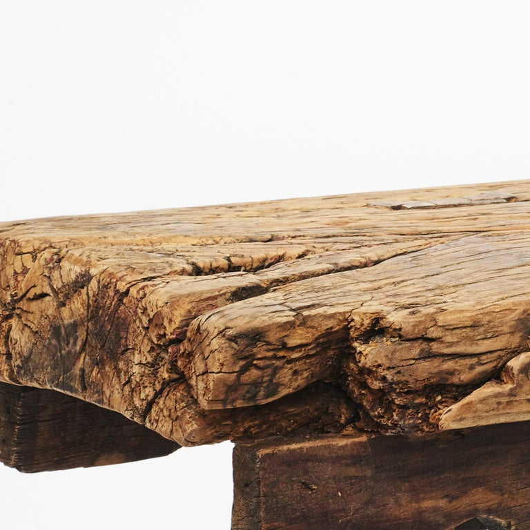 Rustic 17th-18th Century Chinese Pine Bench In Good Condition For Sale In Nordhavn, DK