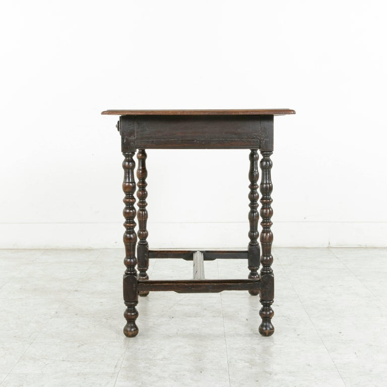 rustic 18th century french oak louis xiii style side table. Black Bedroom Furniture Sets. Home Design Ideas