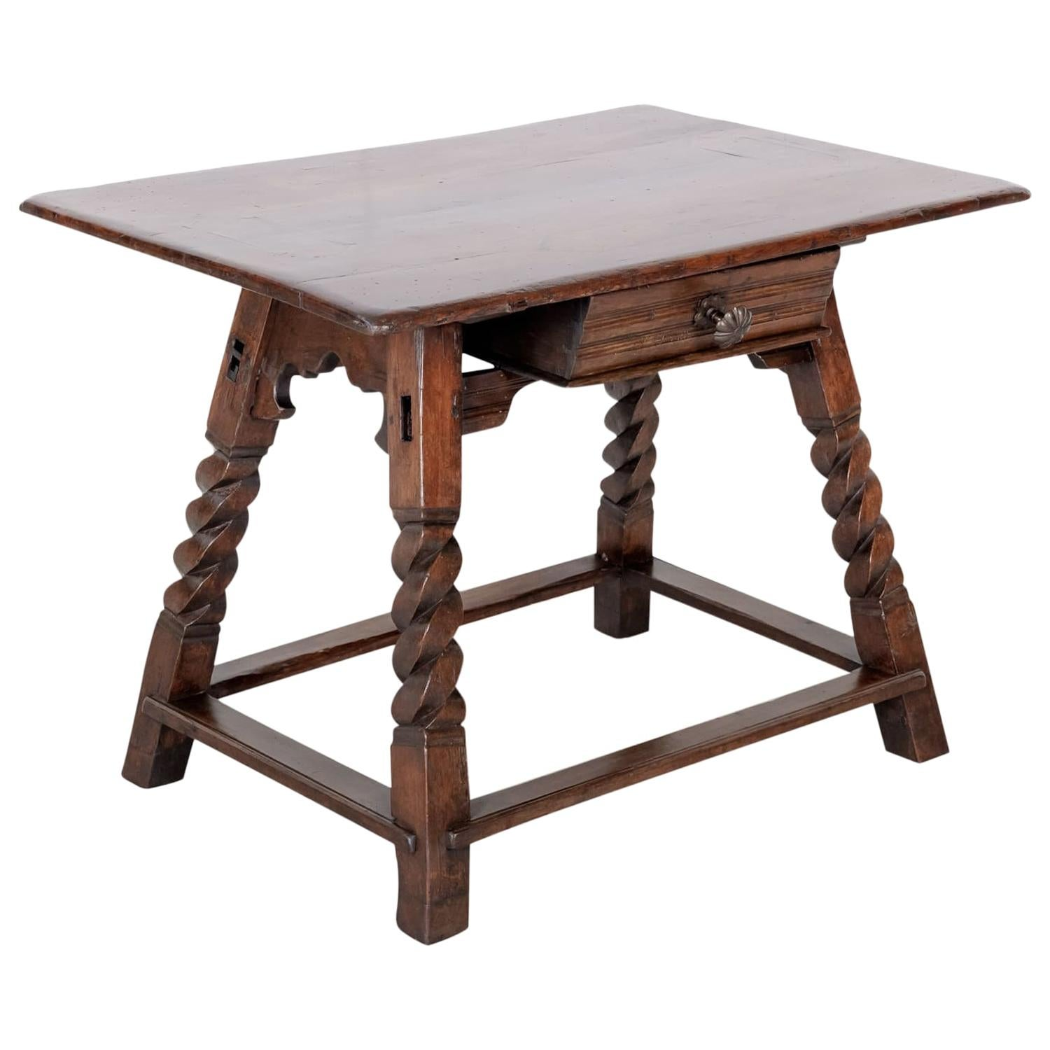 Rustic 18th Century Spanish Baroque Period Side Table