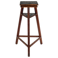 Rustic 1940s Sculpture Stand