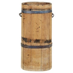 Rustic 19th Century Swedish Pine Butter Churn