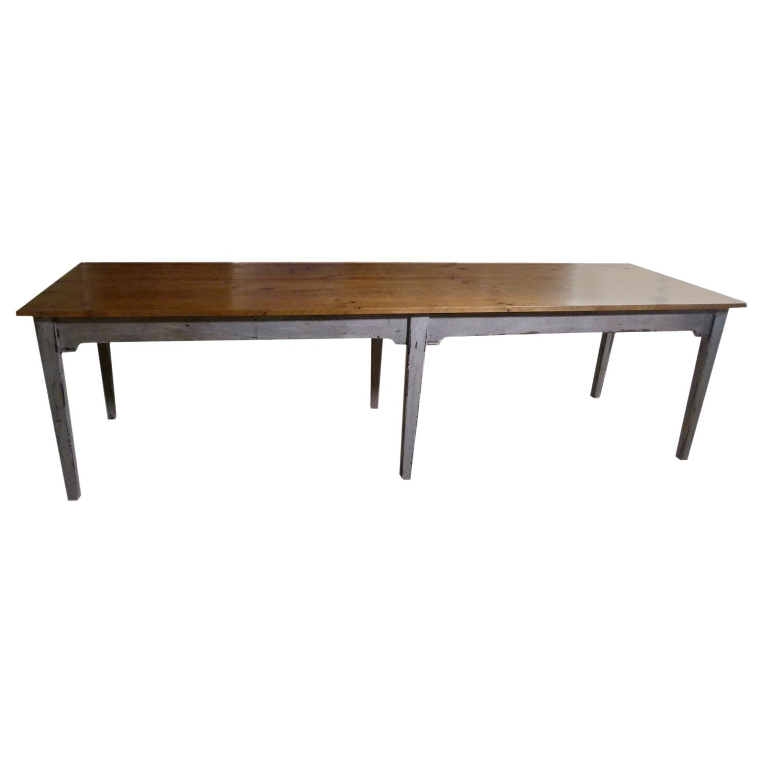 Large Rustic 20th Century Dining Table