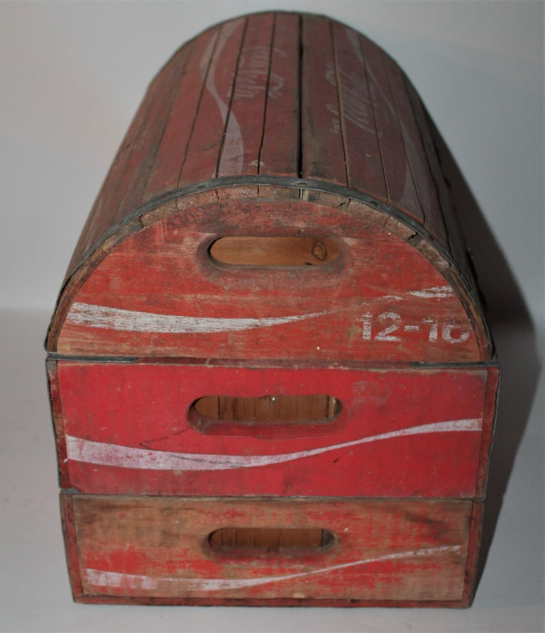 Hand-Crafted Rustic 20th Century Coca-Cola Trunk For Sale